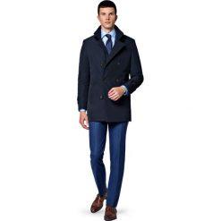 Płaszcz C.Granatowy Apollos. Niebieskie płaszcze męskie LANCERTO, na jesień, z tkaniny, eleganckie. Za 799.90 zł.