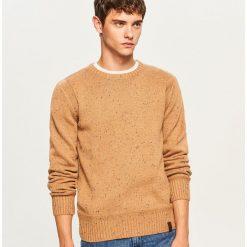 Sweter - Beżowy. Brązowe swetry przez głowę męskie Reserved. Za 99.99 zł.