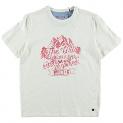 Mustang T-Shirt Męski, L, Kremowy. Białe t-shirty męskie Mustang, w kolorowe wzory, z bawełny. Za 148.00 zł.