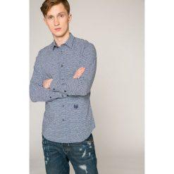 Diesel - Koszula. Szare koszule męskie Diesel, z bawełny, z klasycznym kołnierzykiem, z długim rękawem. W wyprzedaży za 249.90 zł.