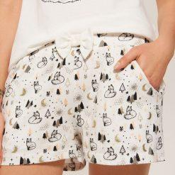 Pizamowe szorty z nadrukiem - Kremowy. Białe piżamy damskie House, z nadrukiem. Za 25.99 zł.