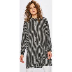 Answear - Koszula Stripes Vibes. Szare koszule damskie ANSWEAR, w paski, z tkaniny, casualowe, ze stójką, z długim rękawem. W wyprzedaży za 59.90 zł.