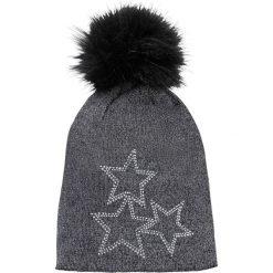 Czapka z pomponem bonprix czarny. Czarne czapki i kapelusze damskie bonprix. Za 44.99 zł.