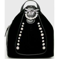 Pinko - Plecak skórzany. Czarne plecaki damskie Pinko, z materiału. Za 1,499.00 zł.