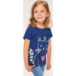 T-shirt z kotkiem - Granatowy. T-shirty damskie marki bonprix. Za 14.99 zł.