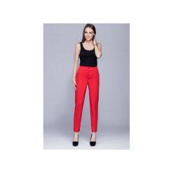 Eleganckie długie spodnie czerwone   H022. Czerwone spodnie materiałowe damskie Harmony. Za 147.00 zł.