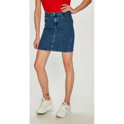Tommy Jeans - Spódnica. Szare spódnice damskie Tommy Jeans, z bawełny. Za 359.90 zł.