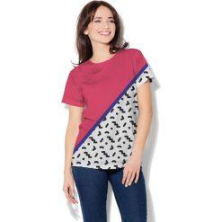 Colour Pleasure Koszulka CP-030  25 biało-różowo-granatowa r. XS/S. T-shirty damskie Colour Pleasure. Za 70.35 zł.