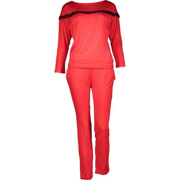 25b64671345a00 Piżama w kolorze czerwonym - Czerwone piżamy damskie Kalimo. W ...