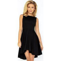 33-4 lacosta - ekskluzywna sukienka z dłuższym tyłem - czarna. Czarne sukienki damskie NUMOCO. Za 134.00 zł.