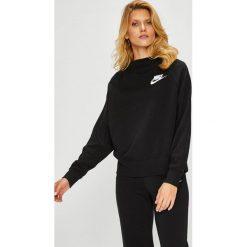 Nike Sportswear - Bluza. Czarne bluzy damskie Nike Sportswear, z nadrukiem, z bawełny. Za 239.90 zł.