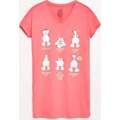 Koszula nocna z nadrukiem - Pomarańczo. Koszule nocne damskie marki MAKE ME BIO. W wyprzedaży za 29.99 zł.