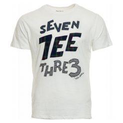 Pepe Jeans T-Shirt Męski Abbot L Biały. Białe t-shirty męskie Pepe Jeans, z nadrukiem, z jeansu. Za 195.00 zł.