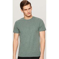 Melanżowy t-shirt - Turkusowy. Niebieskie t-shirty męskie Reserved. Za 29.99 zł.