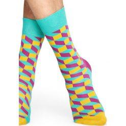 Happy Socks - Skarpetki Filled Optic. Szare skarpety damskie Happy Socks, z bawełny. Za 39.90 zł.