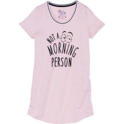 Koszula nocna bonprix jasnoróżowy z nadrukiem. Koszule nocne damskie marki MAKE ME BIO. Za 27.99 zł.