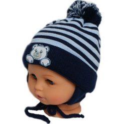 Czapka niemowlęca z szalikiem CZ+S 010E szara. Czapki dla dzieci marki Reserved. Za 36.70 zł.