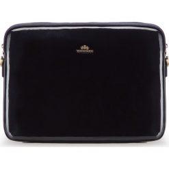 Pokrowiec na laptopa 25-2-517-N. Brązowe torby na laptopa damskie Wittchen, w paski, z lakierowanej skóry. Za 759.00 zł.