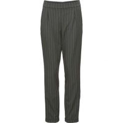 Spodnie z kontrastowymi paskami bonprix antracytowo-jasnoszary w paski. Spodnie materiałowe damskie marki DOMYOS. Za 79.99 zł.