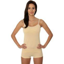 Brubeck Koszulka damska Camisole COMFORT COTTON beżowa r. S (CM00210A). T-shirty damskie Brubeck. Za 32.99 zł.