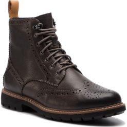Kozaki CLARKS - Batcombe Lord 261378497  Taupe Leather. Brązowe kozaki męskie Clarks, z materiału, eleganckie. W wyprzedaży za 439.00 zł.