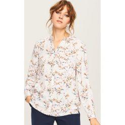 Koszula w kwiaty - Kremowy. Białe koszule damskie Reserved, w kwiaty. Za 69.99 zł.