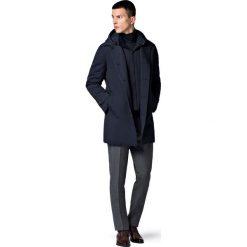 Płaszcz Granatowy Kensington. Niebieskie płaszcze męskie LANCERTO, na jesień, z jeansu, casualowe. Za 799.90 zł.