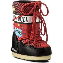Śniegowce MOON BOOT - Jr Comics 34000800001 Nero/Rosso M. Buty zimowe chłopięce Moon Boot, z materiału. W wyprzedaży za 249.00 zł.