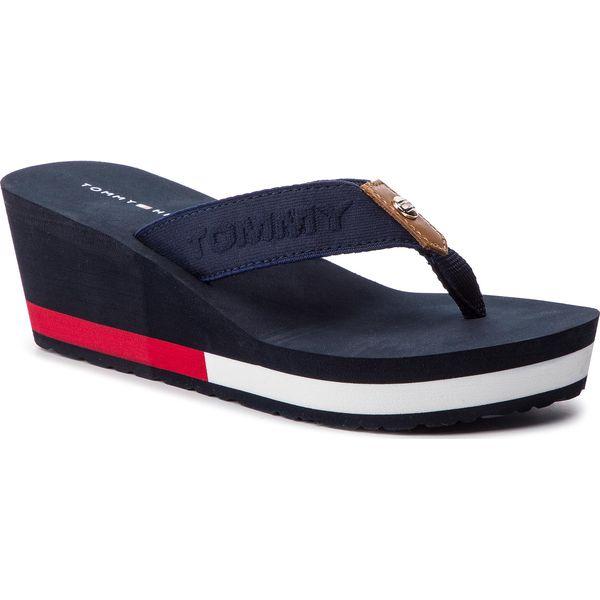 c528b65871853 Japonki TOMMY HILFIGER - Flag Wedge Beach Sandal FW0FW03863 Rwb 020 ...