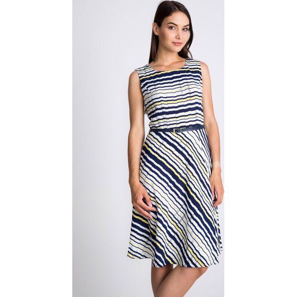 94970b250b Rozkloszowana sukienka w paski QUIOSQUE - Sukienki damskie marki ...