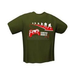 GamersWear GAMEPAD DRIBBLER T-Shirt Oliwkowy (XXL) (6033-XXL). Zielone t-shirty i topy dla dziewczynek GamersWear. Za 92.66 zł.