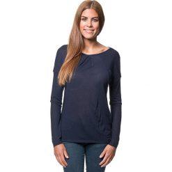 Koszulka w kolorze różowym. Bluzki damskie Benetton, z bawełny, z okrągłym kołnierzem, z długim rękawem. W wyprzedaży za 43.95 zł.