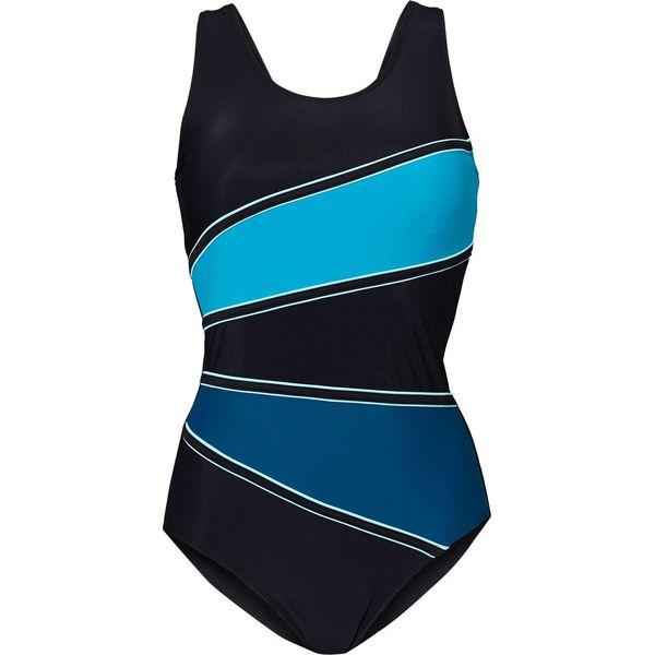 bd847da4bb5c Kostium kąpielowy wyszczuplający bonprix czarny-niebieskozielony ...