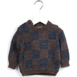 Sweter w kolorze brązowo-granatowym. Swetry dla dziewczynek marki bonprix. W wyprzedaży za 92.95 zł.