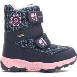 Granatowe Śniegowce Steadfastness. Niebieskie buty zimowe dziewczęce Born2be, z materiału. Za 89.99 zł.