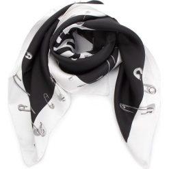 Chusta MOSCHINO - 03549 M1802 001. Czarne szaliki i chusty damskie MOSCHINO, z jedwabiu. Za 819.00 zł.
