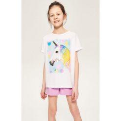 Dwuczęściowa piżama z szortami - Biały. Bielizna dla chłopców Reserved. W wyprzedaży za 19.99 zł.