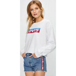Levi's - Bluza. Brązowe bluzy damskie Levi's, z nadrukiem, z bawełny. Za 219.90 zł.