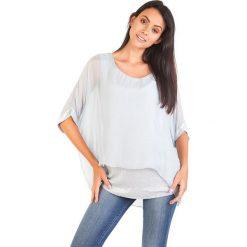 Koszulka w kolorze szarym. T-shirty damskie 100% Soie, klasyczne, z okrągłym kołnierzem. W wyprzedaży za 130.95 zł.
