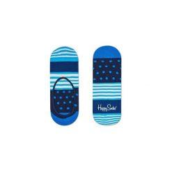 Skarpetki Happy Socks - Stripes & Dots Liner (SDO06-6003). Szare skarpety męskie Happy Socks, w kolorowe wzory, z bawełny. Za 27.90 zł.