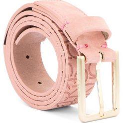 Pasek Damski CALVIN KLEIN - Logo Embossed Belt N K60K604326 75 628. Czerwone paski damskie Calvin Klein, w paski, z nubiku. Za 249.00 zł.