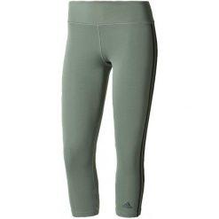 Adidas Legginsy d2m 3S3/4tigh Trace Green /Black M. Czarne legginsy damskie Adidas, w paski, z dzianiny. W wyprzedaży za 109.00 zł.