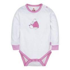 G-Mini Body Dziecięce Niedźwiadek, 74, Białe/Różowe. Body niemowlęce marki Pollena Savona. Za 39.00 zł.