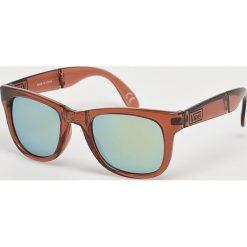 Vans - Okulary. Brązowe okulary przeciwsłoneczne męskie Vans, z materiału. W wyprzedaży za 59.90 zł.