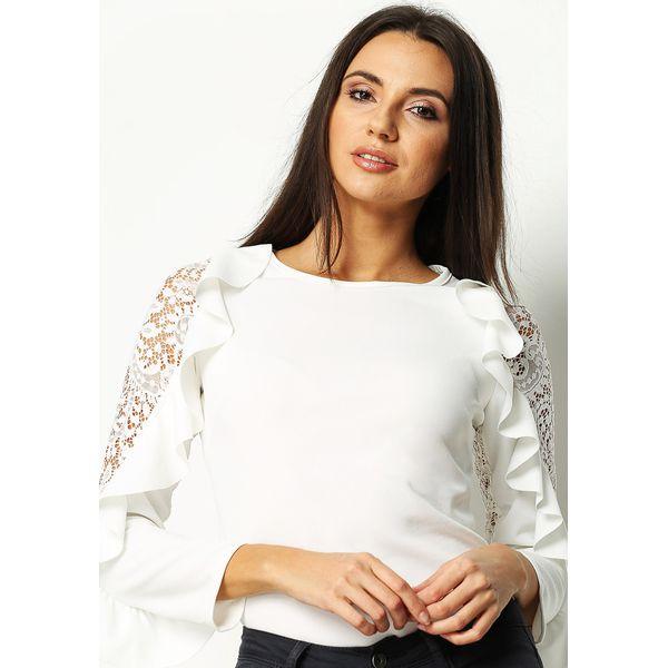 Najnowsze Biała Bluzka Dolce Rosa - Białe bluzki damskie marki Born2be, z CJ11