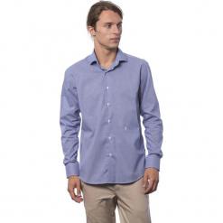 Koszula w kolorze ciemnoniebieskim. Niebieskie koszule męskie Roberto Cavalli, Trussardi, z klasycznym kołnierzykiem. W wyprzedaży za 212.95 zł.