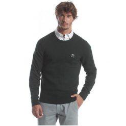 Polo Club C.H..A Sweter Męski Xxl Ciemnozielony. Czarne swetry przez głowę męskie Polo Club C.H..A, z okrągłym kołnierzem. W wyprzedaży za 239.00 zł.