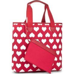 Torebka TWINSET - Shopping AS8PNA Bic Rubin 02167. Czerwone torebki do ręki damskie Twinset, z materiału. W wyprzedaży za 249.00 zł.