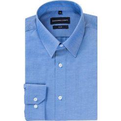 Koszula SIMONE KDNS000254. Niebieskie koszule męskie Giacomo Conti, z tkaniny, z klasycznym kołnierzykiem, z długim rękawem. Za 149.00 zł.