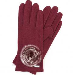 Rękawiczki damskie 47-6-101-2T. Czerwone rękawiczki damskie Wittchen, z wełny. Za 59.00 zł.